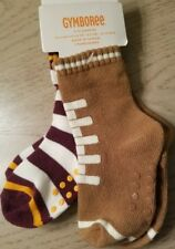 Gymboree STRAIGHT A ATHLETES 2 PAIRS SOCKS Football size 6-12 months NWT