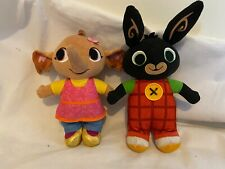 BING BUNNY Cbeebies Sounds Soft Toys Dolls TALKING FRIENDS BING & SULA 10 inch