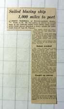 1942 Gordon Marshall Windsor Gardens Anlaby Sales Blazing Ship 1000 Miles