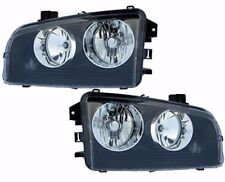 2006 - 2010 DODGE CHARGER HEAD LAMP LIGHT (BLACK) SET LEFT AND RIGHT PAIR