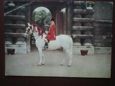 POSTCARD ROYALTY ROYAL OUTRIDER IN SCARLET LIVERY