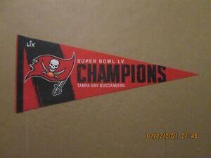 NFL Tampa Bay Buccaneers Super Bowl LV Champions Team Logo Pennant