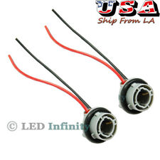 2pcs 1156 7527 P21W Turn Signal Brake Tail Light Socket Wiring Harness Connector