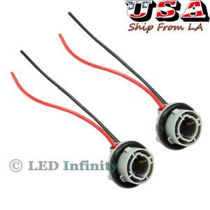 2pcs 1156 7527 P21W Turn Signal Brake Tail Light Socket Wiring Harness Connector