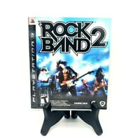 Rockband 2 Sony PS3 PlayStation 3 Complete Game Case Manual Mint Free Shipping