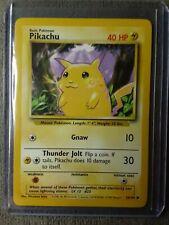 1999 Pokemon Base Set Unlimited Pikachu Card 58/102 **NEAR MINT** READ DESCRIP