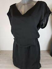 G Star Raw Vestido negro de línea correcta mínimo tamaño grande B342-11