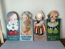 Antique 1927 Set of  Peek A Boo Children's Books  Original 94 years old+