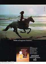 PUBLICITE ADVERTISING 065  1978  AMAZONE  parfum d'HERMES