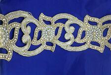 Remnant cut work Gold Bridal Lace Trim Ribbon Craft Wedding Sari Border 79 cm