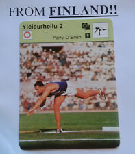 PARRY O'BRIEN 1977 FINNISH Sportscaster card Shot put - From Finland