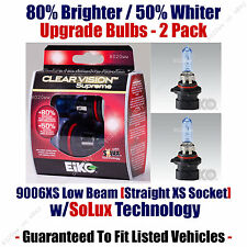 2-Pack Upgrade Headlight Bulbs Low Beam 80% Brighter 50% Whiter 9006XS CVSU2
