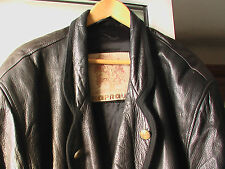 caban manteau cuir d'agneau KAPRAUN Germany Lamm Leder Jacke Trachten  54