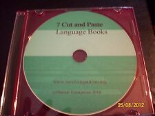7 Cut & Paste Book CD  speech therapy, autism ABA Pecs