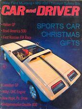 Car & Driver magazine Dec 62 Ford Mustang MG 1100 Triumph Sports Six Italian GP
