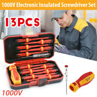 13pcs/set 1000V Pro Electricians Insulated Electrical Hand Screwdriver Tools  ~