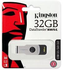 Kingston 32GB DataTraveler Swivl 32G USB 3.1 Swivel Flash Pen Drive DTSWIVL/32GB
