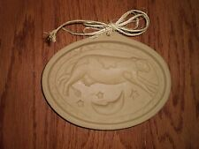 BROWN BAG COOKIE ART COW JUMPED OVER THE MOON CERAMIC COOKIE MOLD PRESS;NEW;1993