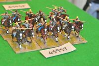 25mm roman era / goth - cavalry 12 figs (plastic) - cav (45957)