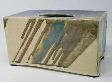 Vintage Handmade Western Ceramic Pottery Glazed Earth Tone Tissue Box Cover