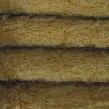 "1/6 yd 300S/C Buckwheat INTERCAL 1/2"" Ultra-Sparse Curly S-Finish Mohair Fabric"
