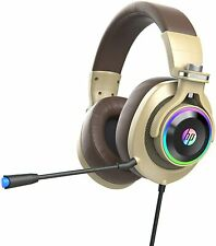 HP Wired Gaming Headset with LED Lit, Adjustable Mic for PS4 Xbox One Nintendo