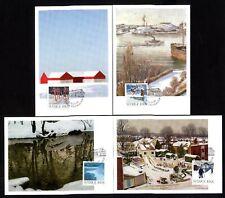 Sweden 2561/4 Maximum Cards Christmas Wintergemälde