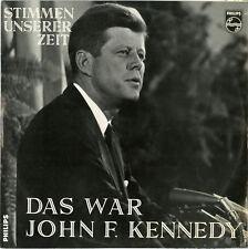 """""""DAS WAR JOHN F. KENNEDY"""" Stimmen Unserer Zeit (LP 33 tours allemand) NM"""