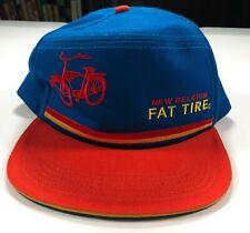 New Belgium Brewing Fat Tire Blue and Orange Adjustable Trucker Hat Cap