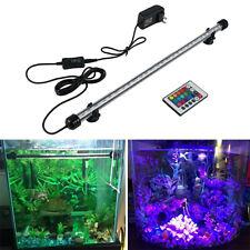 Aquarium Fish Tank LED 5050 RGB Submersible Lights 18-48CM Lamp+ Remote