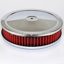 "9"" pollici rosso Pancake Filtro Aria Ideale Per Holley Edelbrock Carb Carburatore, ecc."