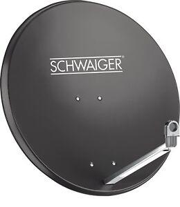 SCHWAIGER Satelliten Schüssel 80cm - Sat Spiegel Antenne digital hdtv hd 4k Alu