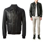 ★Giacca Giubbotto Uomo in di PELLE 100% Men Leather Jacket Veste Homme Cuir R25b