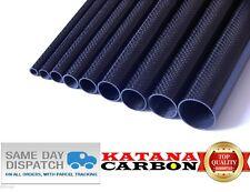 1 x diametro esterno 18 mm X ID 16mm x Lunghezza 500mm 3K IN FIBRA DI CARBONIO TUBO (Rollio avvolto) fibra