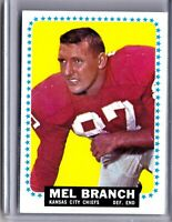 1964 Topps #91 Mel Branch Chiefs 💲AVE 🏈 CSV VINTAGE NFL
