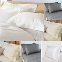 400TC Thread Count Oxford Pillowcase Pair 100% Egyptian Cotton White Cream Grey