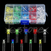 New 200pcs 5 Color 3mm 5mm Round Bright Light LED Diode Lamp Assortment Kit