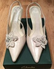 Clarks Bridal or Wedding 100% Leather Heels for Women