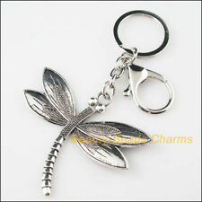 New Charms Pendants Tibetan Silver Tone Animal Dragonfly KeyChain Lobster Clasps