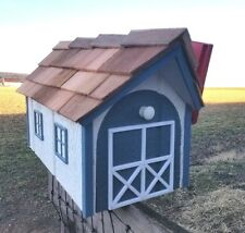 Amish Crafted 2 Tone Colonial Blue/White Barn Style Mailbox - Lancaster Cnty PA