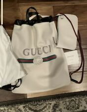 Gucci Printed Logo Leather Backpack Large