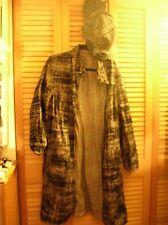 Plaid reversible suit skirt oversizd jacket hat black pink white grey L XL 14 16