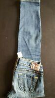 TRUE RELIGION Women Stella Big T Skinny Fit Premium Denim Jeans - 28x30 Dark