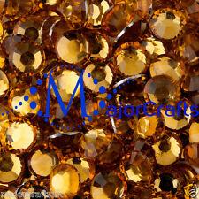 3000pcs Orange Gold 2.5mm ss8 Flat Back Resin Rhinestones Nail Art DIY Gems C23