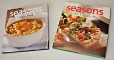 Seasons Comfort Foods & Seasons Healthy Living Recipes Cookbooks 2-Books