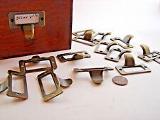 Card Catalog-type Drawer Pulls Bronze Tone Vintage Style Qty 7