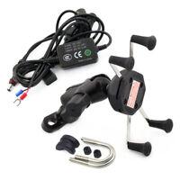 Mobile Phone Mount Bracket+USB Charge For Speed Triple/R Thruxton Bonneville