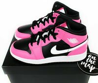 Nike Air Jordan 1 Retro Mid Pink Black Pinksicle GS UK 3 4 5 6 7 US New