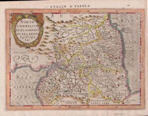 1632 Large Mercator/Cloppenburg Map of North East England