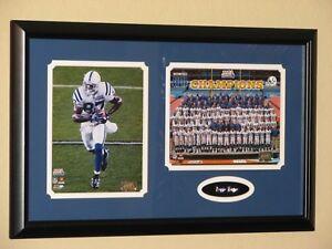 Indianapolis Colts Reggie Wayne Super Bowl XLI Champions Photo Plaque